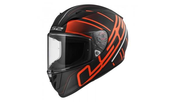 LS2 FF323 ARROW R EVO ION, MATT BLACK-RED, L