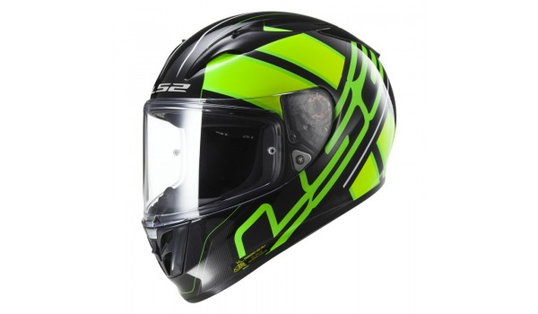 LS2 FF323 ARROW R ION, BLACK GREEN, L