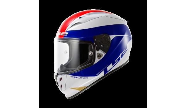 LS2 FF323 ARROW R COMET, WHITE-BLUE-RED, XL