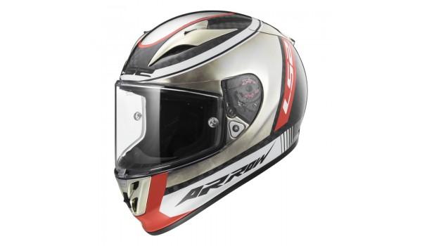 LS2 FF323 ARROW C EVO INDY, WHITE BLACK RED, M