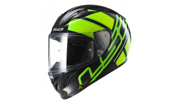 LS2 FF323 ARROW R EVO ION, BLACK FLUO GREEN, S