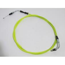Трос газа 4T GY6 50/150 гайка - пластина желтый стайлинг (Китай скутер)