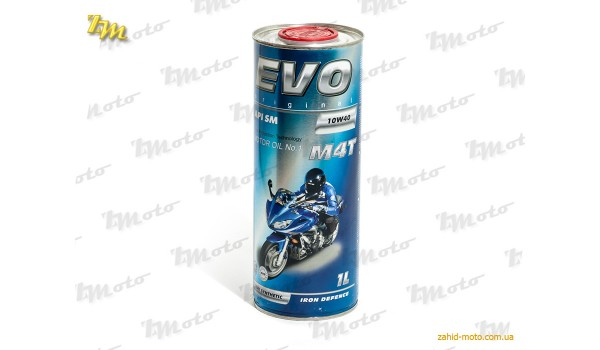 Масло моторне напівсинтетичне EVO MOTO M4T 10W-40 1L
