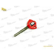 Ключ замка зажигания (загот) Suzuki (красный) (Япон. скутер)